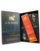 A.H. Riise Christmas Edition Reserve XO Rum Gift Box w. 2 glasses 70 cl 40%