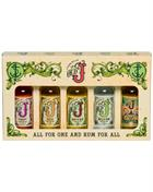 Admiral's Old J Miniature Gift pack 5x5 cl Rum 40% to 75,5%