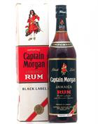Captain Morgan Black Label Old Version 70ies Imported Jamaica rom 43%
