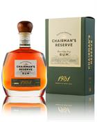Chairmans Reserve 1931 Finest St Lucia Rum 46%