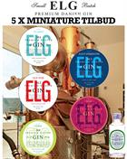 ELG Miniature / Mini Bottle 5x5 cl Premium Danish Gin 46,3-57,2%