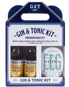 ELG Gin Boxset 4 x Fevertree + ELG Gin No 1 Premium Danish Gin Small Batch 47,2%