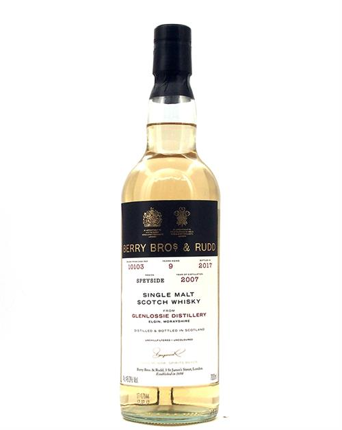 Glenlossie 2007/2017 Berry Bros 9 year old Single Cask Speyside Malt Whisky 46%