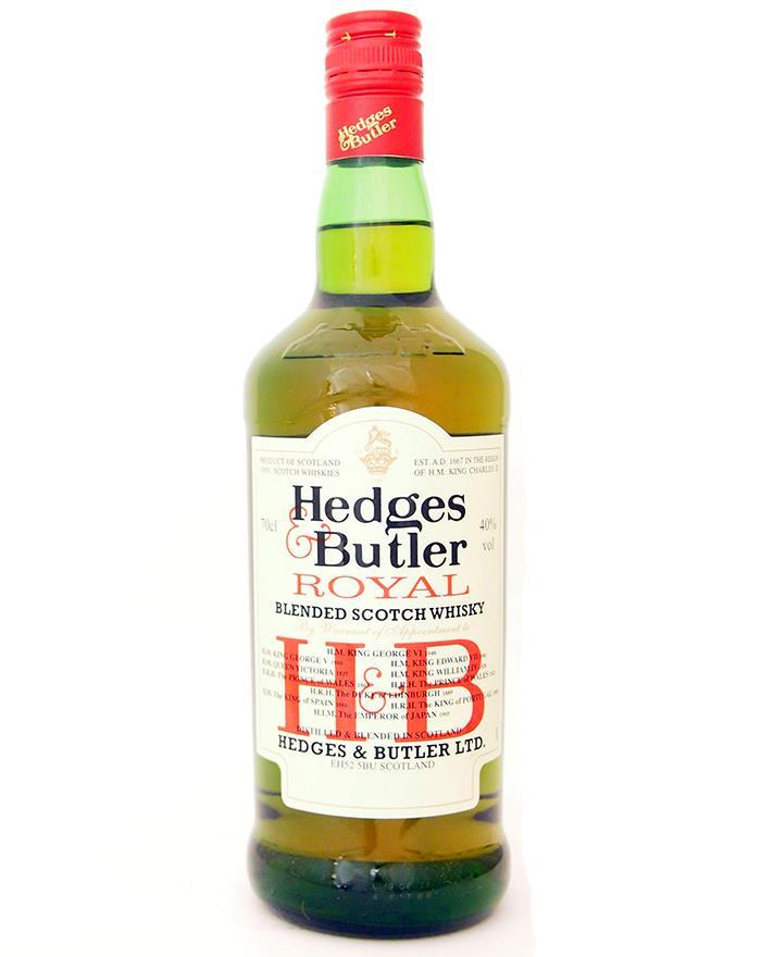 Hedges Amp Butler Royal Blended Scotch Whisky 40
