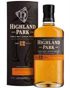 Highland Park 12 year old Old Version Single Orkney Malt Whisky 40%