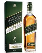 Johnnie Walker Pure Malt 15 year old Green Label Blended whisky 43%