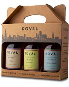 Koval Whiskey Giftbox 3 bottles 3x20cl Chicago USA 40% to 47%