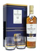 Macallan Double Cask 12 year old Limited Edition GIFT BOX with 2 glasses Single Speyside Malt Whisky 40%