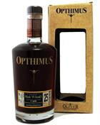 Opthimus Rum 25 Old Version barricas de Malt Whisky Finish Tomatin Dominikanske Republik 43%