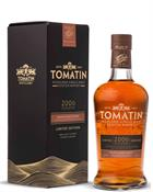 Tomatin 2006 Amontillado Sherry Cask Finish Highland Single Malt Scotch Whisky 46%