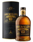 Aberfeldy 18 Year Old 1 litre Single Malt Highland Whisky 40%
