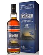 BenRiach 22 year old Moscatel Wood Finish Single Highland Malt Whisky 46%