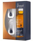 Benromach 10 year old Giftbox with 2 glass Single Speyside Malt Whisky 43%