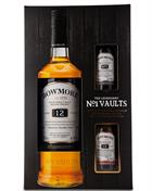 Bowmore 12 year old 70 cl BLACK Giftbox 2 x 5 cl Single Islay Malt Whisky 40%