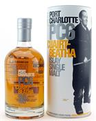 6 bottles of Port Charlotte PC 6 Bruichladdich Single Islay Malt Whisky 61,6%