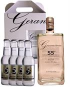 Geranium 55 KIT 4 x Tonic Premium London Dry Gin Hammer and son 70 cl 55%