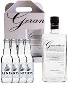 Geranium Gin KIT incl 4 x Tonics Premium London Dry Gin Hammer and son England 70 cl 44%