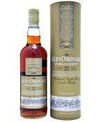 Glendronach 21 year old Parliament Single Speyside Malt Whisky 48%