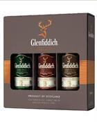 Glenfiddich Giftbox 12+15+18 years old Miniature / Mini Bottle 5 cl Single Malt Scotch Whisky 40%