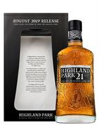 Highland Park 21 year old 2019 Release Single Orkney Malt Whisky 46 procent alcohol