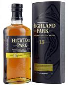Highland Park 15 year old Single Orkney Malt Whisky 40%