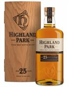Highland Park 25 år Træ æske Single Orkney Malt Whisky 45,7%