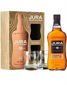 Isle of Jura 10 year old Gift Box two glasses Single Malt Whisky 40%