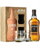 Isle of Jura 12 year old Gift Box two glasses Single Malt Whisky 40%