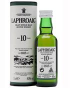 Laphroaig 10 Miniature 5 cl Single Islay Malt Whisky 40%