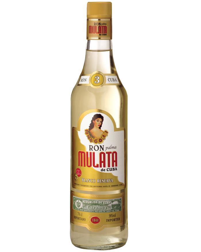 Ron Mulata De Cuba Silver Dry Rum 38