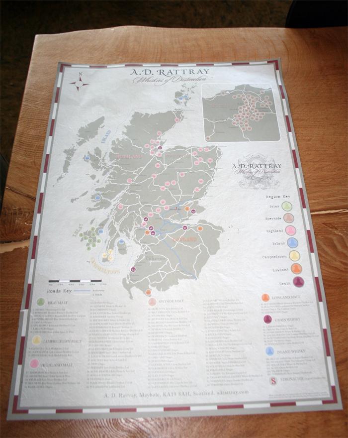 Skotlands Kort Plakat A D Rattray