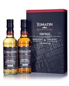 Tomatin Contrast Fully matured Bourbon Sherry 2x35 cl Single Highland Malt Whisky 46%