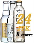 Tonic Water MIX with 24 stk in box - 8 stk of Fevertree, Gents and 1724