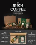 Irish Coffee Kit med Tullamore Dew 35 cl. Irish Whiskey 40%