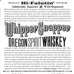 Whipper Snapper Oregon Whiskey